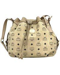 MCM Heritage Drawstring Leather Handbag - Multicolour