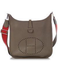 Hermès Evelyne Beige Leather Handbag - Natural