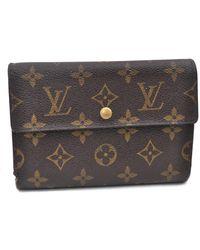 Louis Vuitton Leinen Portemonnaies - Braun