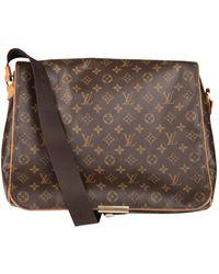 Louis Vuitton Abbesses Messenger Leinen Taschen - Braun
