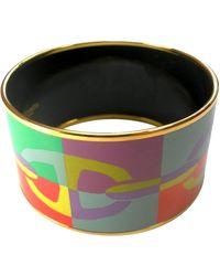 Hermès Pulsera en chapado en oro multicolor Bracelet Email