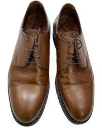 Louis Vuitton Scarpe derby in pelle marrone