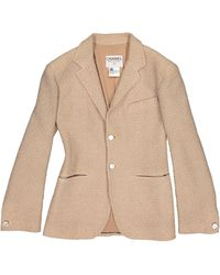 Chanel Chaqueta en lana beige - Neutro
