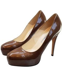 Brian Atwood Patent Leather Heels - Green