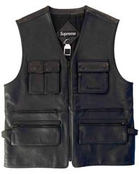 Supreme Black Leather Jacket