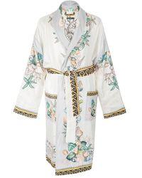 Versace White Silk Swimwear