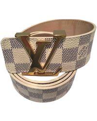 Louis Vuitton Cintura in tela beige - Neutro