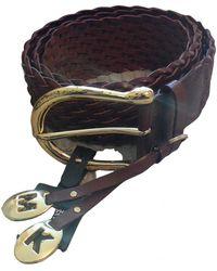 Michael Kors Leather Belt - Brown