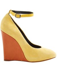 Céline Yellow Suede