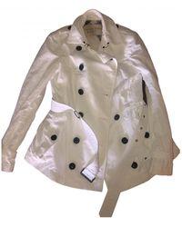 Burberry Trench Coat - White