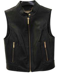 Michael Kors Black Leather Leather Jacket