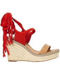 Lanvin - Beige Leather Sandals - Lyst