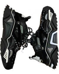CALVIN KLEIN 205W39NYC Strike 205 Cloth Sneakers - Black