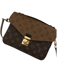 Louis Vuitton Metis Brown Cloth Handbag
