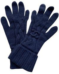 Chanel Cashmere Long Gloves - Blue
