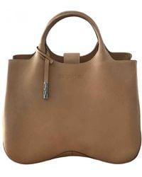 Sergio Rossi Leather Handbag - Natural