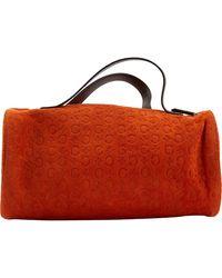 Céline Orange Suede Handbag