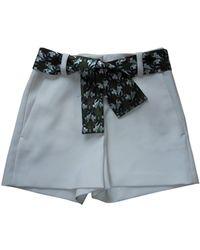 Maje Shorts in Poliestere Ecru - Multicolore
