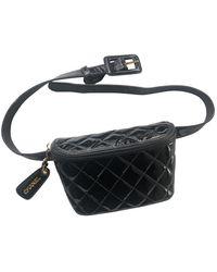 Chanel Lackleder Handtaschen - Schwarz