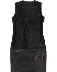 BLK DNM - Vestido en Cuero Negro - Lyst