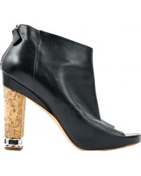 Chanel - Leather Heels - Lyst