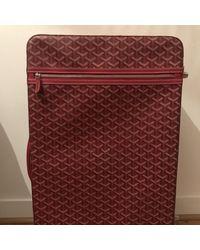 Goyard Leinen Reisetaschen - Rot