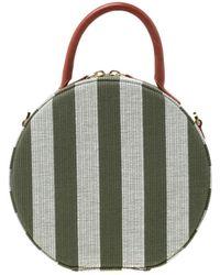 Mansur Gavriel Circle Green Leather Handbag