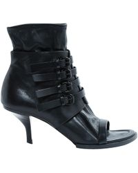 Alexander Wang - Pre-owned Black Leather Ankle Boots - Lyst