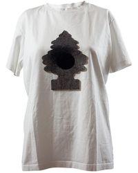 Jason Wu Top en Coton Blanc - Multicolore