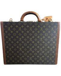Louis Vuitton President Leinen Reise tasche - Mehrfarbig