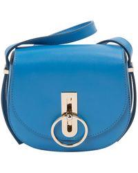 Nina Ricci \n Blue Leather Handbag