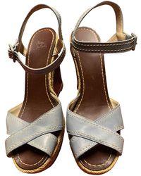 Christian Louboutin Cataclou Blue Leather Sandals