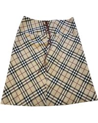 Burberry \n Beige Cotton Skirt - Natural