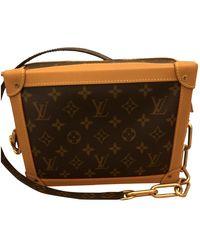 Louis Vuitton Borsa in tela marrone Soft trunk mini