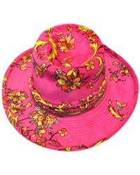 Lyst - Emilio Pucci Wide Brim Rafia Hat in Blue 766dd11c38f7
