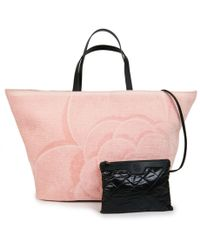 b8e13645140227 Madison Avenue Couture Pink Canvas Large Deauville Shopping Bag in ...