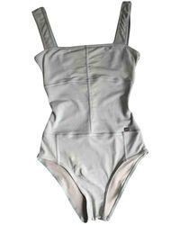 Chanel Einteiliger Badeanzug - Grau