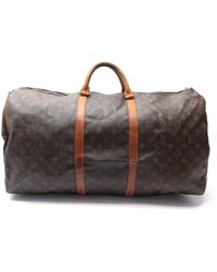 Louis Vuitton Sac de voyage Keepall en toile - Marron