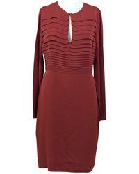 Diane von Furstenberg - Burgundy Silk Dress - Lyst