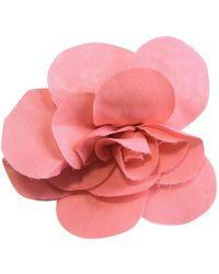 Chanel Spilla rosa Camélia