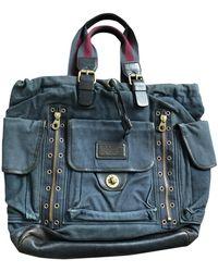 Marc By Marc Jacobs Blue Cloth Bag