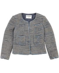 Chanel - Pre-owned Blue Cotton Jackets - Lyst