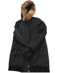 Maje Abrigo en Poliéster Marino - Azul