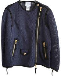 Moschino - Navy Polyester Jacket - Lyst