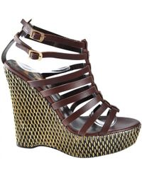 Pre-owned - Leather sandals Just Cavalli LAi5R