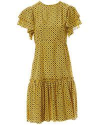 Marni Silk Mini Dress - Yellow