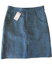 A.P.C. Falda en lino - Azul