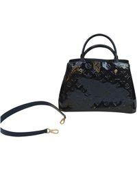 Louis Vuitton - Montaigne Patent Leather Handbag - Lyst
