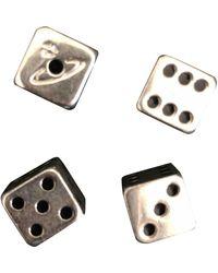 Vivienne Westwood Silver Metal Cufflinks - Metallic