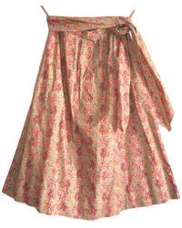 Lanvin - Multicolour Cotton Skirt - Lyst